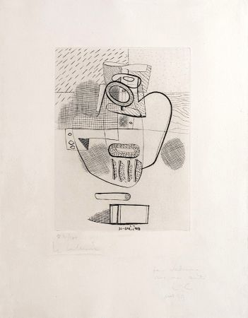 Incisione Le Corbusier - Nature Morte (hand-signed, numbered, dedicated)