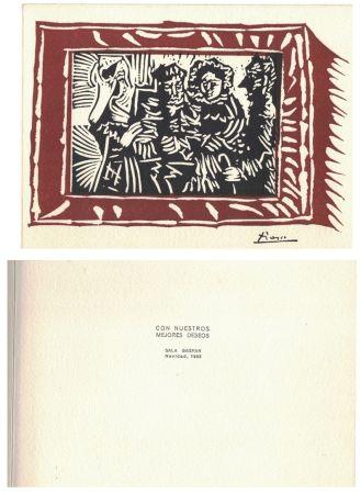 Linoincisione Picasso - '' Navidad 1963 ''