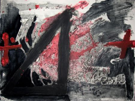 Acquaforte E Acquatinta Tapies - Negre I Roig