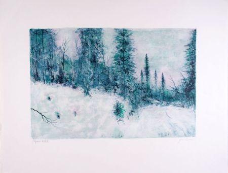 Litografia Gantner - Neige I - Snow I