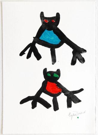 Litografia Ionesco - New Year's Card 1987 / 1988