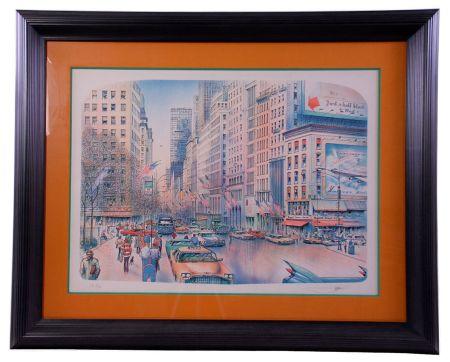 Litografia Rafflewski - New York 5th Avenue