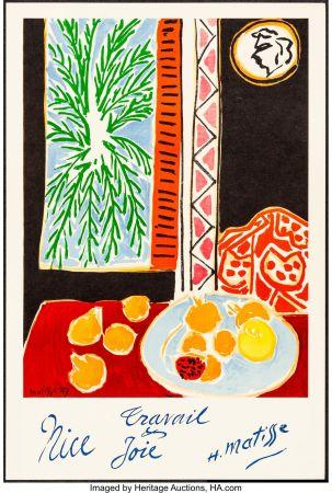 Litografia Matisse - Nice, Travail et joie