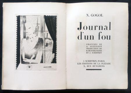 Libro Illustrato Alexeïeff - Nicolai Gogol : JOURNAL D'UN FOU (1927).
