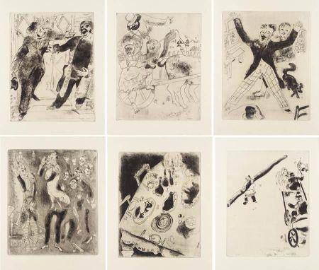 Libro Illustrato Chagall - Nicolas Gogol : LES ÂMES MORTES. Eaux-fortes originales de Marc Chagall