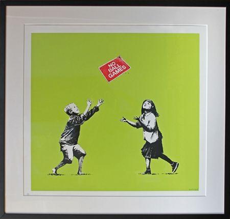 Serigrafia Banksy - No Ball Games (Green)