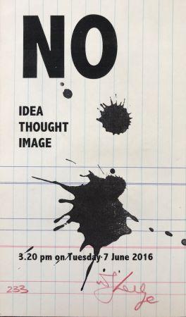 Serigrafia Kentridge - No Idea Thought Image