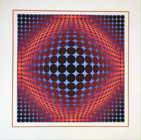 Litografia Vasarely - Nobel 7