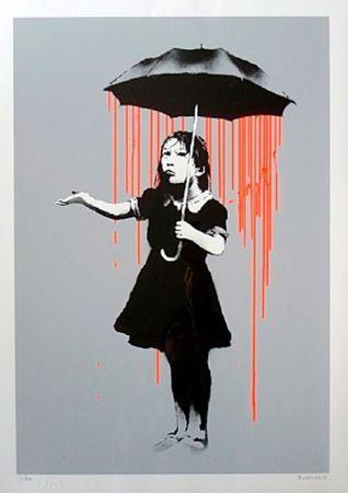 Serigrafia Banksy - Nola (Orange Rain)