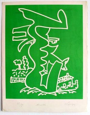 Litografia Lapicque - Normandie