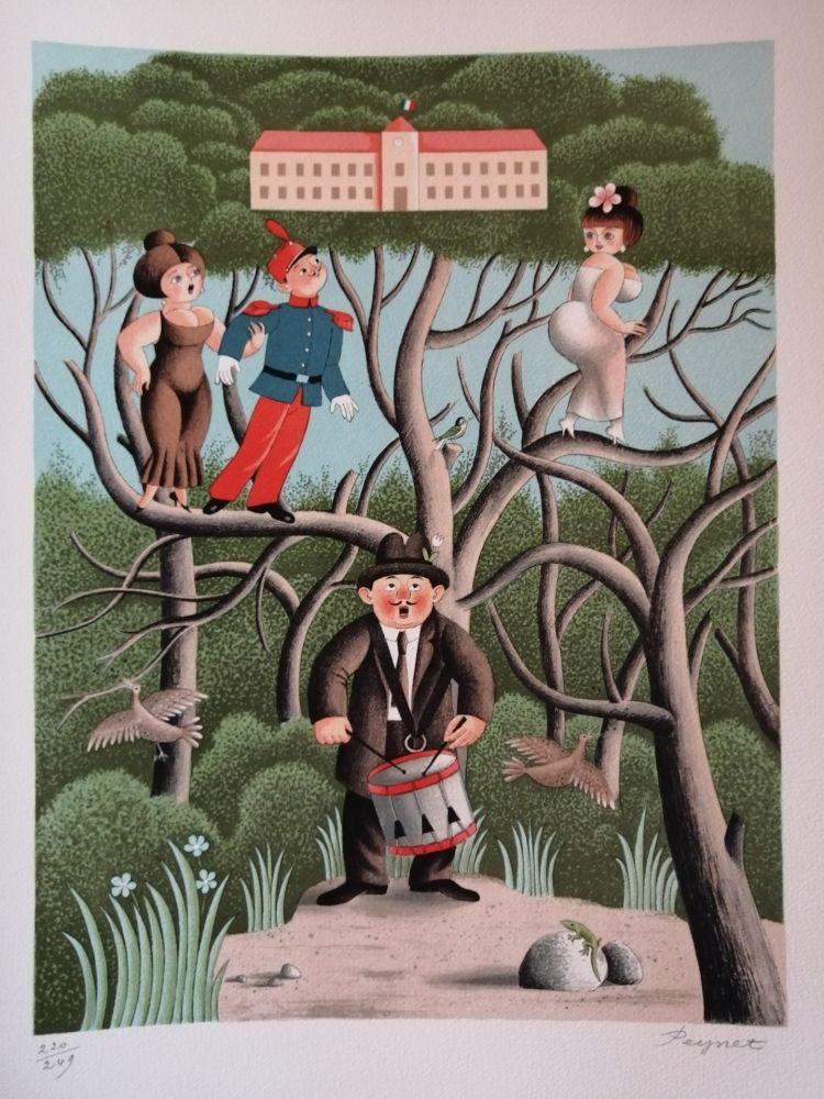 Litografia Peynet - Nostalgie de Caserne
