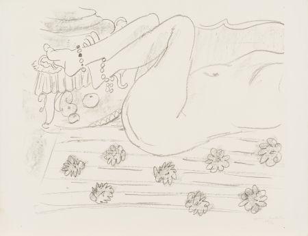 Litografia Matisse - Nu. Étude d'un mouvement de jambes