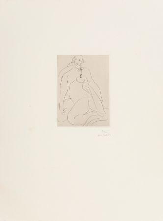 Incisione Matisse - Nu Accroupi, Une Cordeliere Nouee Autour du Cou
