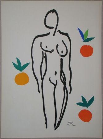 Litografia Matisse - Nu aux oranges
