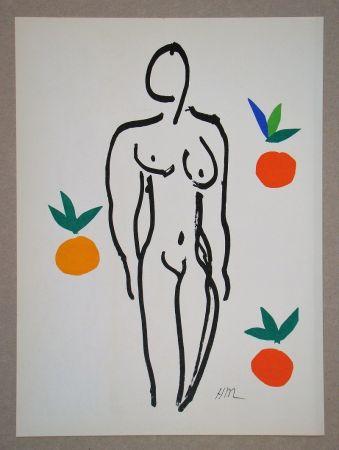 Litografia Matisse (After) - Nu Aux Oranges - 1953