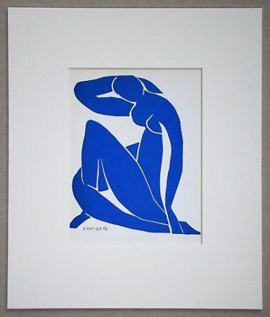 Litografia Matisse - Nu beu - 1952