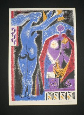 Litografia Masson - Nu Bleu