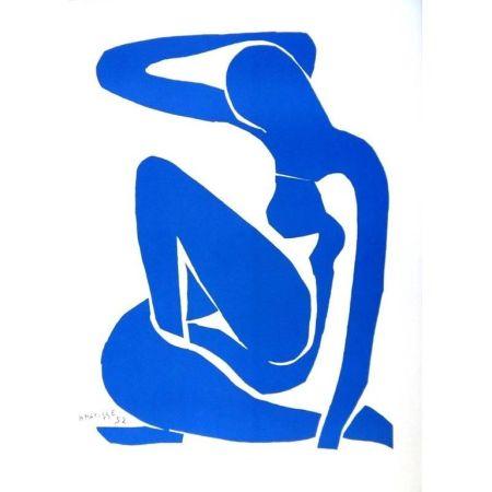 Litografia Matisse - Nu Bleu