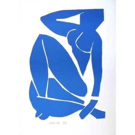 Litografia Matisse - Nu Bleu assise