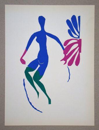 Litografia Matisse (After) - Nu bleu avec des bas verts - 1952
