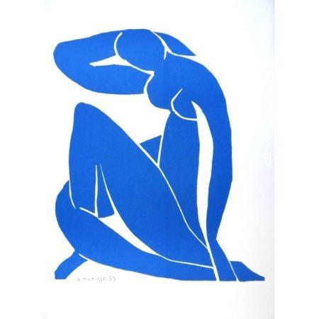 Litografia Matisse - Nu Bleu endormi