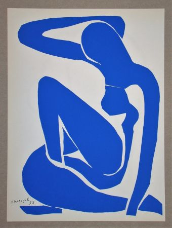 Litografia Matisse (After) - Nu bleu I.-1952