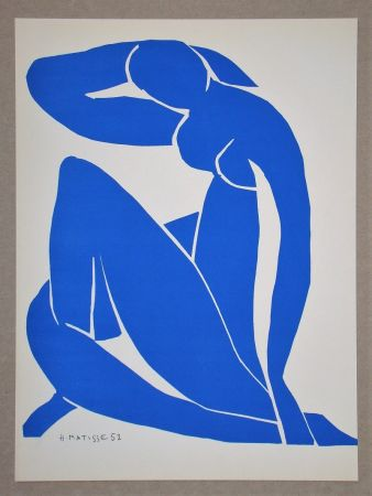Litografia Matisse (After) - Nu bleu II.-1952