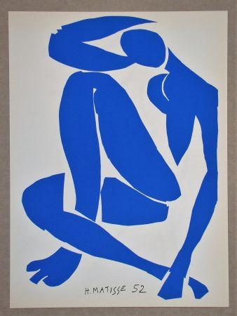 Litografia Matisse (After) - Nu bleu IV.-1952