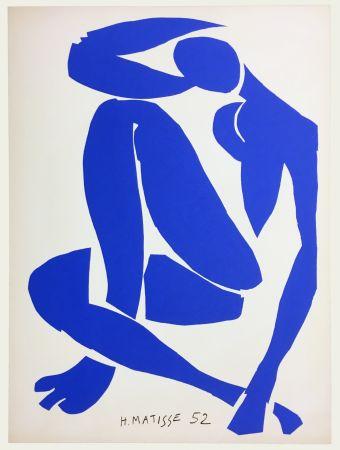 Litografia Matisse - Nu Bleu IV (1958)