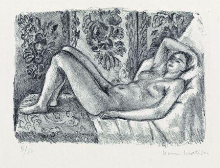 Litografia Matisse - Nu couché au paravant Louis XIV
