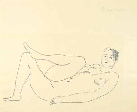 Litografia Matisse - Nu couché, jambe repliée - Étude de jambes