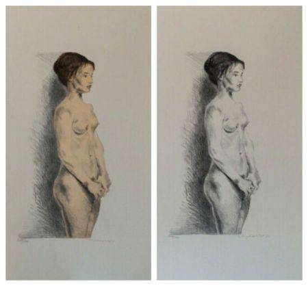 Litografia Soyer - Nude Woman Portfolio