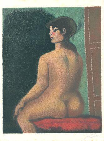 Litografia Gentilini - Nudo di Luisa