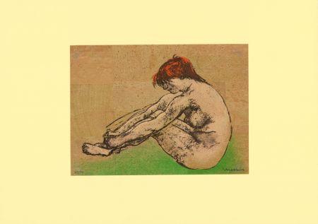 Litografia Messina - Nudo / Nude