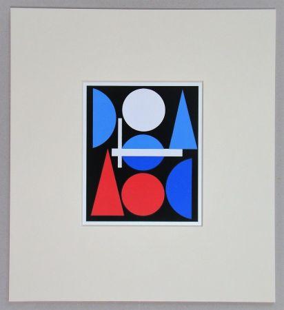 Serigrafia Herbin - Nue - 1960