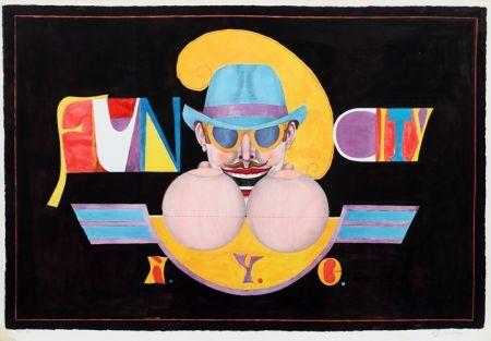 Litografia Lindner - NY Men (Fun City)