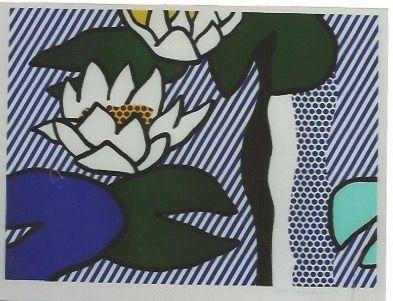 Litografia Lichtenstein - Nympheas - Water Lilies