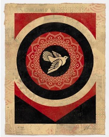 Serigrafia Fairey - Obey Dove Black