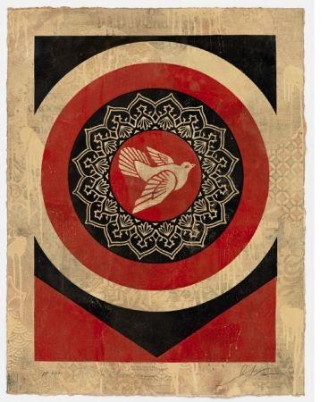 Serigrafia Fairey - Obey Dove Red