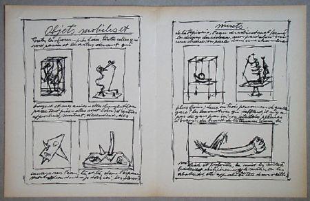 Litografia Giacometti - Objets mobiles