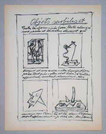 Litografia Giacometti - Objets mobiles et muets Part I.
