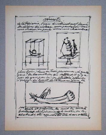 Litografia Giacometti - Objets mobiles et muets Part II.