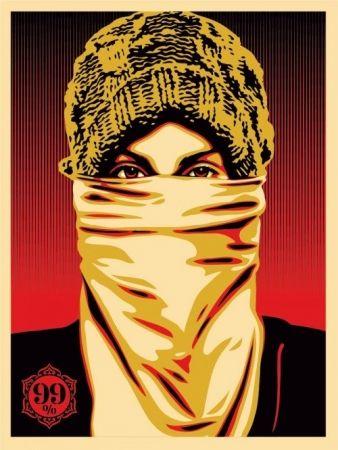 Serigrafia Fairey - Occupy Protester