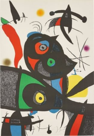 Litografia Miró - Oda Joan MIRO