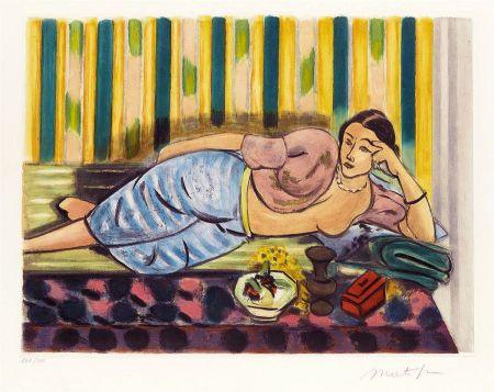 Acquatinta Matisse - Odalisque au Coffret Rouge (Odalisque with Red Box)