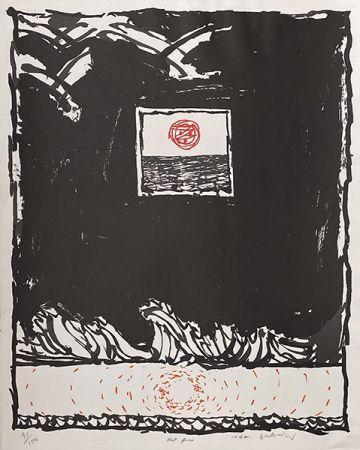 Litografia Alechinsky - Oeil fixe