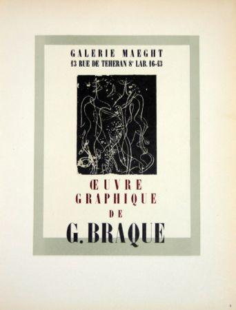 Litografia Braque - Oeuvre Graphique  Galerie Maeght