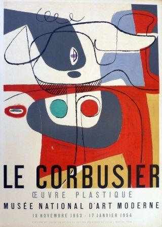 Litografia Le Corbusier - Oeuvre plaastique, musée national d'art  moderne de la ville de Paris