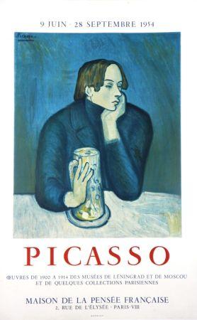 Litografia Picasso - Oeuvres des Musées de Leningrad et Mouscou
