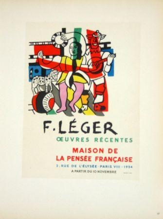 Litografia Leger - Oeuvres Récentes  Maison de la Pensée Française